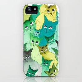 Kiowa Whimsical Cats iPhone Case