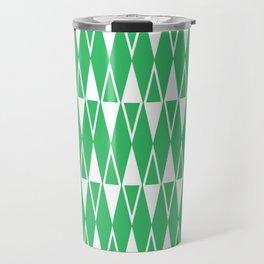 Mid Century Modern Diamond Pattern Green 234 Travel Mug