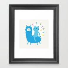 Alpaca Rider Framed Art Print