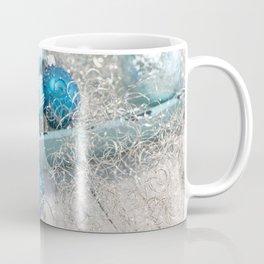 Blue  turquoise christmas baubles and bowl Coffee Mug