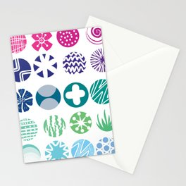 Colored Circles Stationery Cards