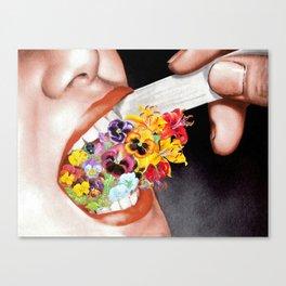 Gardens Flower in her Blooming Breath Canvas Print