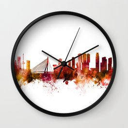 Rotterdam The Netherlands Skyline Wall Clock