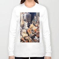 nyc Long Sleeve T-shirts featuring NYC by Vivienne Gucwa