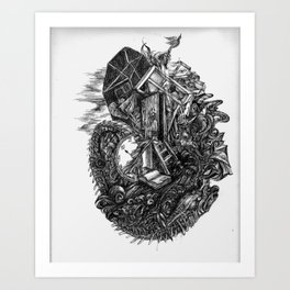 moving Art Print