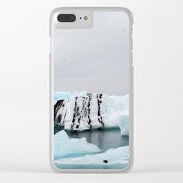 Glacier Lagoon in Iceland Clear iPhone Case