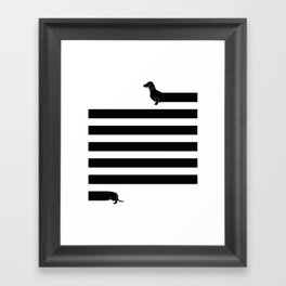 (Very) Long Dog Framed Art Print
