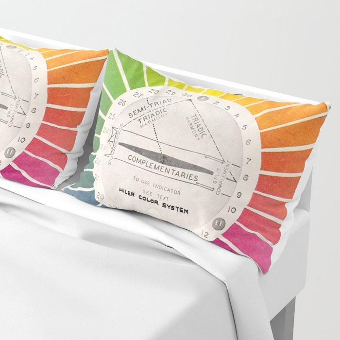 Vintage Color Wheel - Art Teaching Tool - Rainbow Mood Chart Pillow Sham