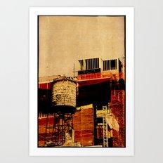 New York water tower Art Print
