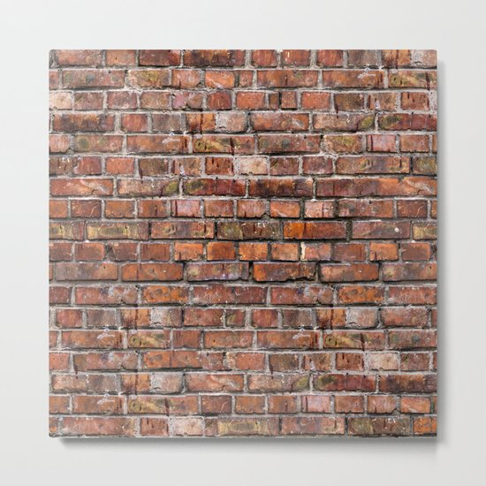 Brick Wall Metal Print