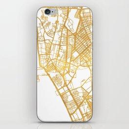 MANILA PHILIPPINES CITY STREET MAP ART iPhone Skin