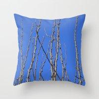climbing Throw Pillows featuring Climbing  by Tea Tree // P H O T O