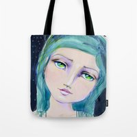 jane davenport Tote Bags featuring Dreamer by Jane Davenport by Jane Davenport