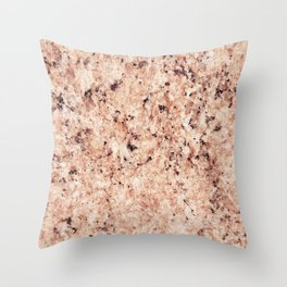 Vintage abstract orange brown rustic marble Throw Pillow