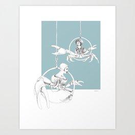 Weird & Wonderful: Crab Circus Art Print