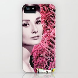Audrey Hepburn Pink Collage iPhone Case