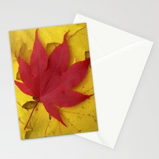red leaf VII Stationery Cards