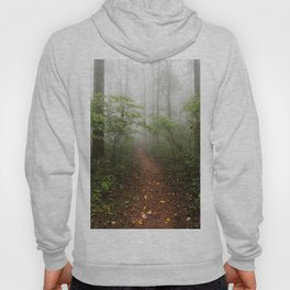Adventure Ahead - Foggy Forest Digital Nature Photography Hoody