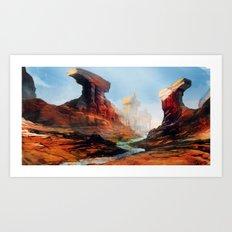 Canyon Temple  Art Print