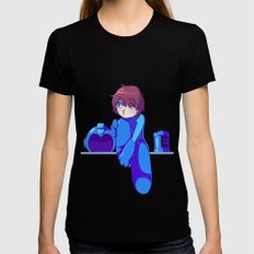 Megaman II  Womens Fitted Tee Black X-LARGE