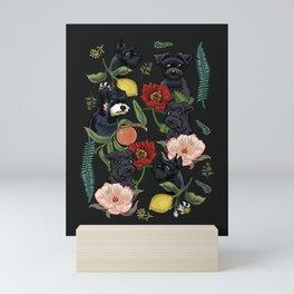 Botanical and Black Schnauzer Mini Art Print
