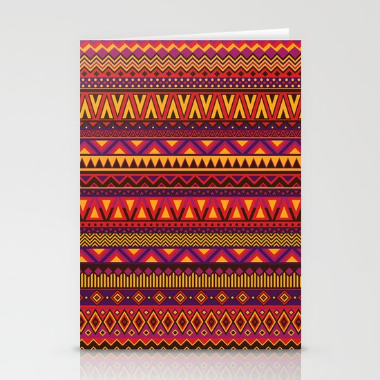 Aztec Pattern 2 Stationery Cards