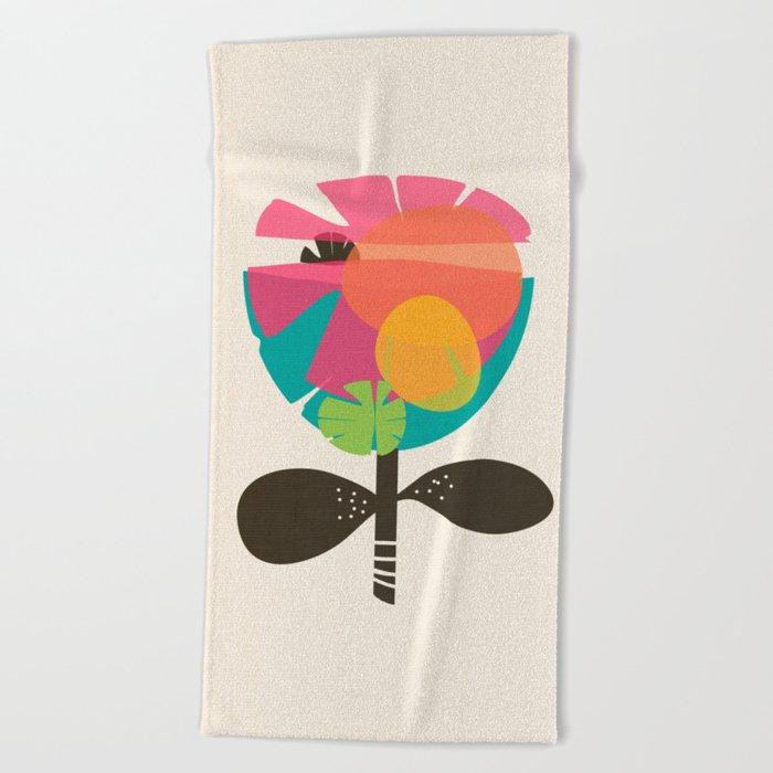 La Flor Beach Towel