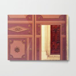 Door to church Metal Print