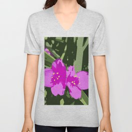 "Tradescantia ""Indian Paint"" pink flowers Unisex V-Neck"