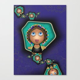 Souther Little Peasant Girls Canvas Print