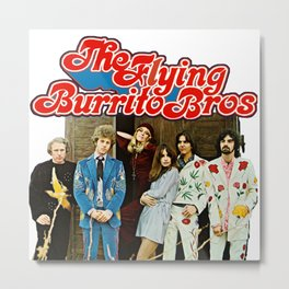 The Flying Burrito Bros with Gram Parsons Metal Print