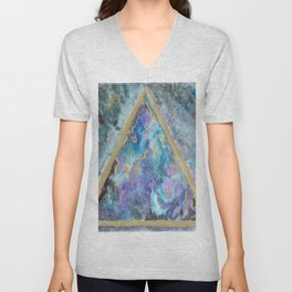 golden triangle nebula dreamscape Unisex V-Neck