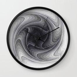 Sinkhole Monochrome Wall Clock