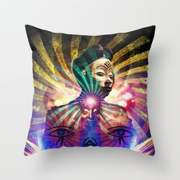 She Manifests Throw Pillow