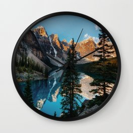 Moraine Lake Canada Wall Clock