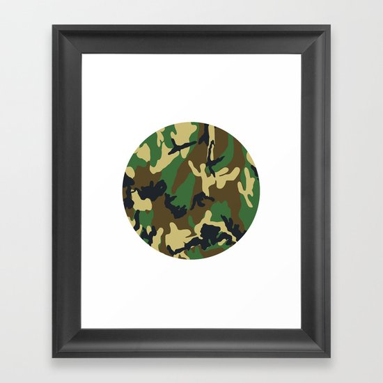 Military - Camouflage Framed Art Print
