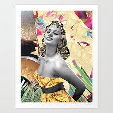 Golden Sophia Loren 2  By Zabu Stewart Art Print