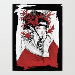 Ningyo .Japanese Mermaid. Poster