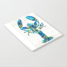 Blue Lobster Art by Sharon Cummings Notebook