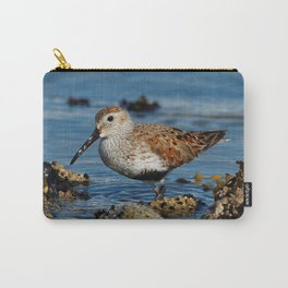 Bird on the Beach / A Solitary Dunlin Carry-All Pouch
