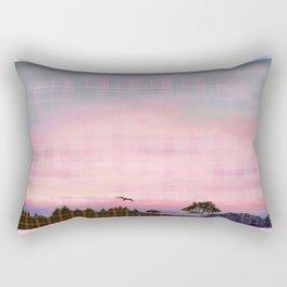 Plaid Landscape Tranquil Sunset Rectangular Pillow