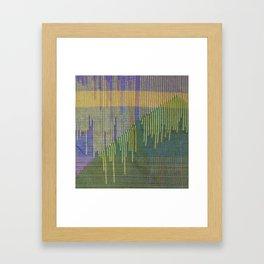 woven pillow Framed Art Print