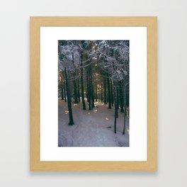 Suns Warmth Framed Art Print