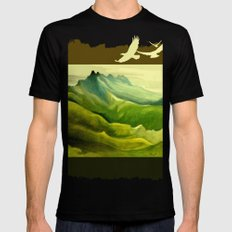The Eyrie Mens Fitted Tee MEDIUM Black