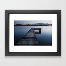dock of dreams Framed Art Print