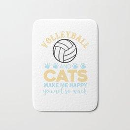 Volleyball Sports Team Team Cat Gift Bath Mat