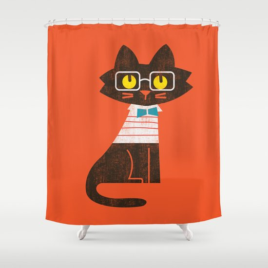 Fitz - Preppy cat Shower Curtain