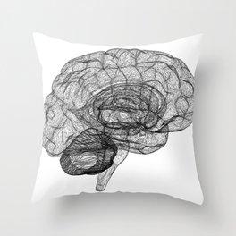 DELAUNAY BRAIN w/b Throw Pillow