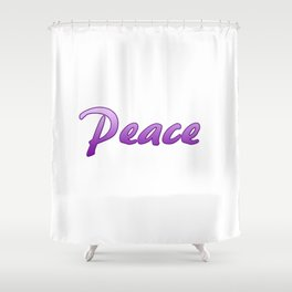 Inspiration Words Shower Curtain