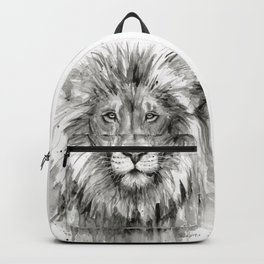 Lion Watercolor Backpack